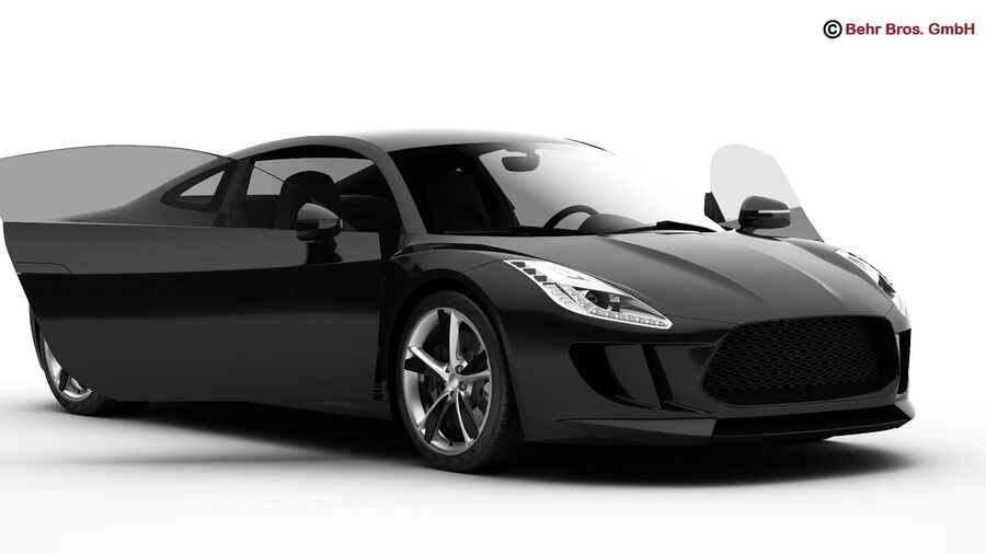 Generic Sports Car royalty-free 3d model - Preview no. 6