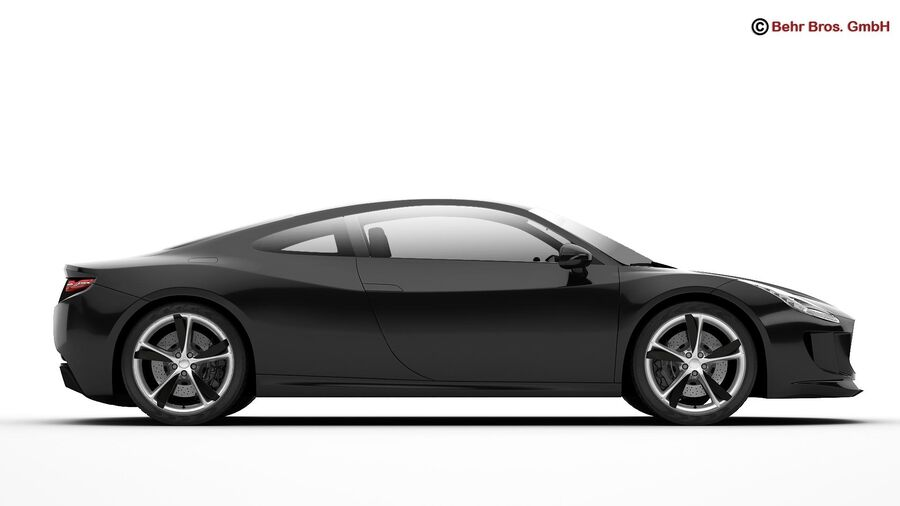Generic Sports Car royalty-free 3d model - Preview no. 11