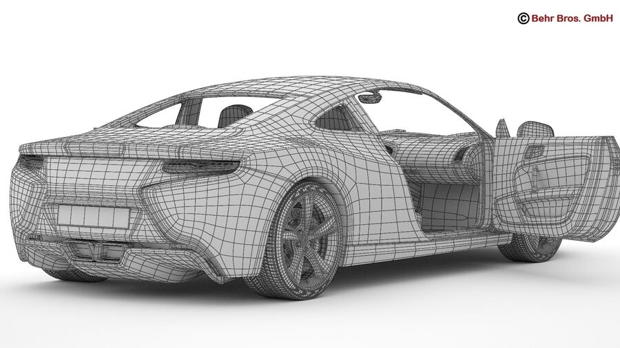 Generic Sports Car royalty-free 3d model - Preview no. 24