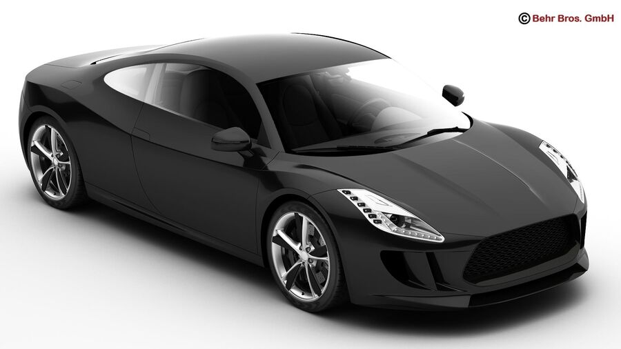 Generic Sports Car royalty-free 3d model - Preview no. 2