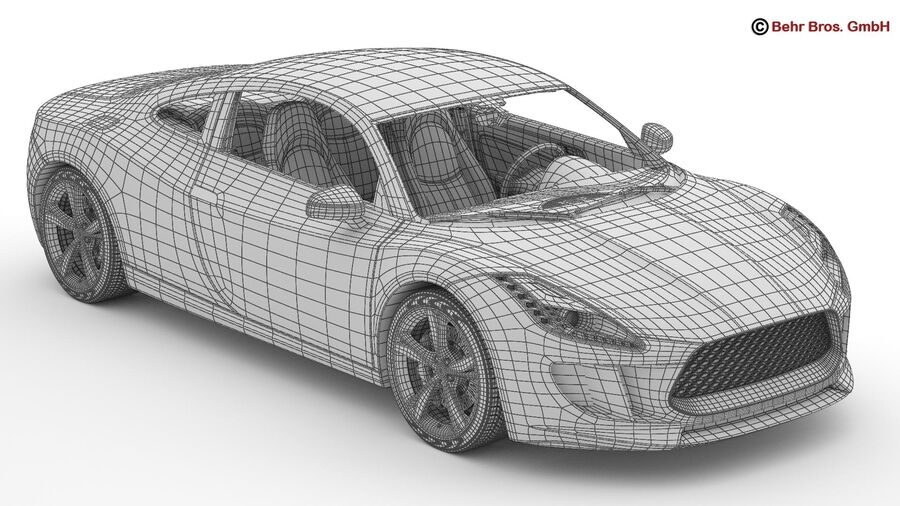 Generic Sports Car royalty-free 3d model - Preview no. 32