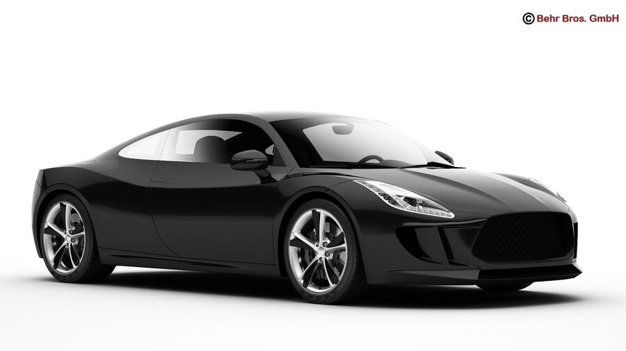 Generic Sports Car royalty-free 3d model - Preview no. 12