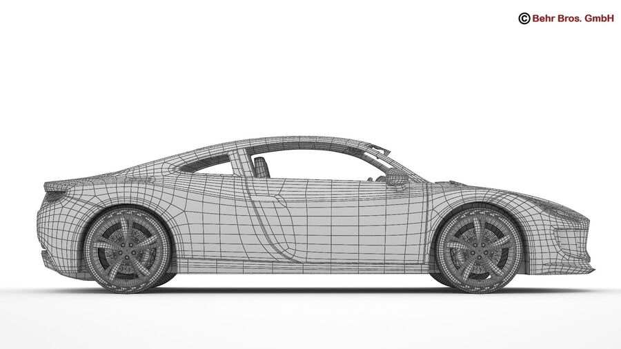 Generic Sports Car royalty-free 3d model - Preview no. 25