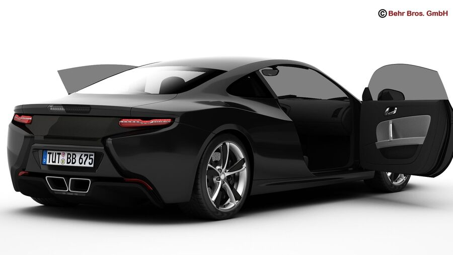 Generic Sports Car royalty-free 3d model - Preview no. 10