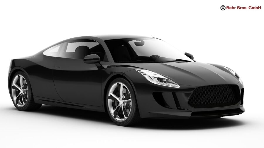 Generic Sports Car royalty-free 3d model - Preview no. 4