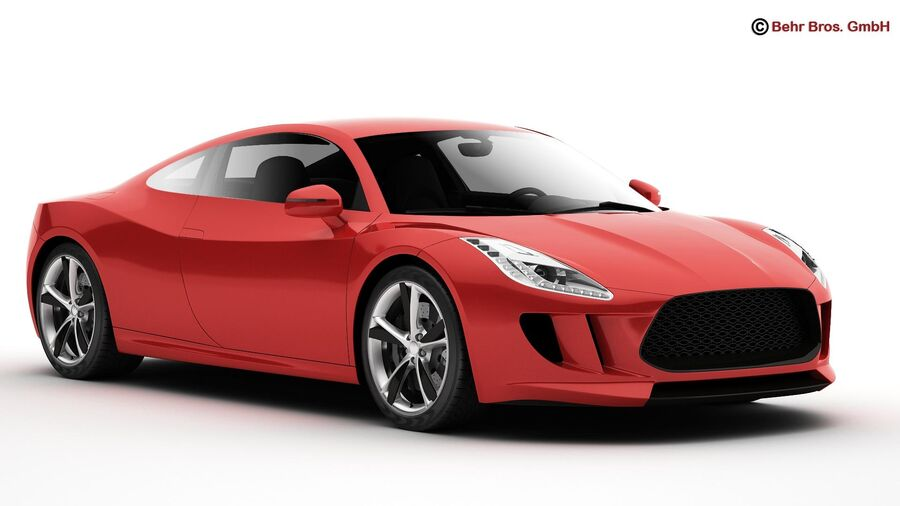 Generic Sports Car royalty-free 3d model - Preview no. 3