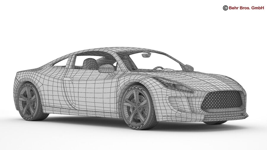 Generic Sports Car royalty-free 3d model - Preview no. 26