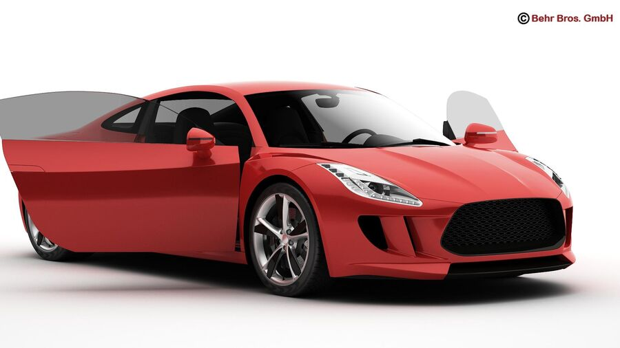 Generic Sports Car royalty-free 3d model - Preview no. 5