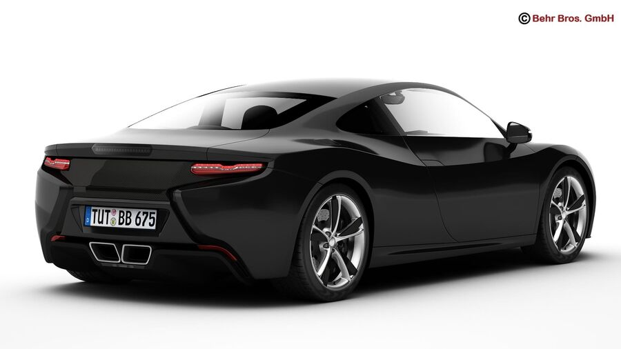 Generic Sports Car royalty-free 3d model - Preview no. 8