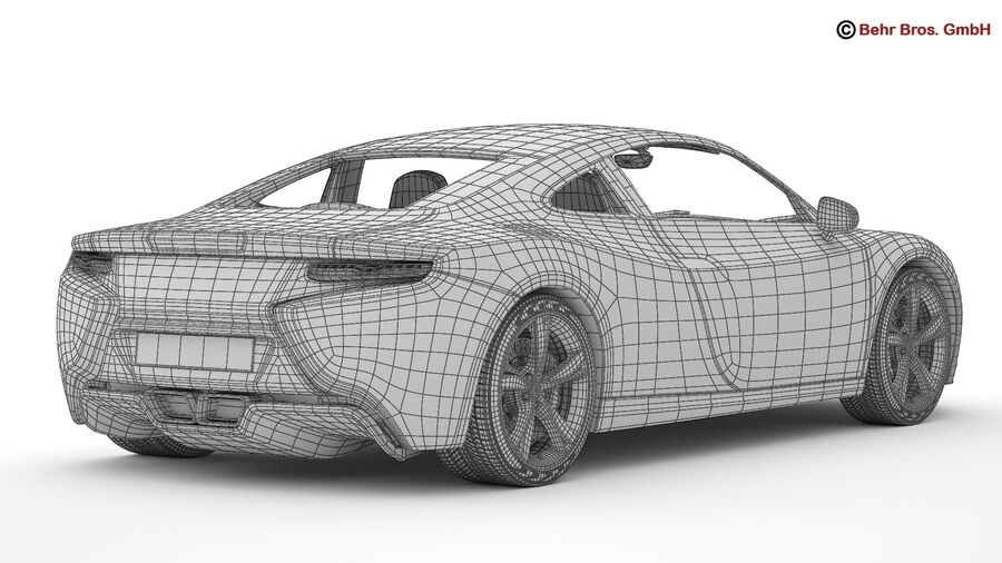 Generic Sports Car royalty-free 3d model - Preview no. 23