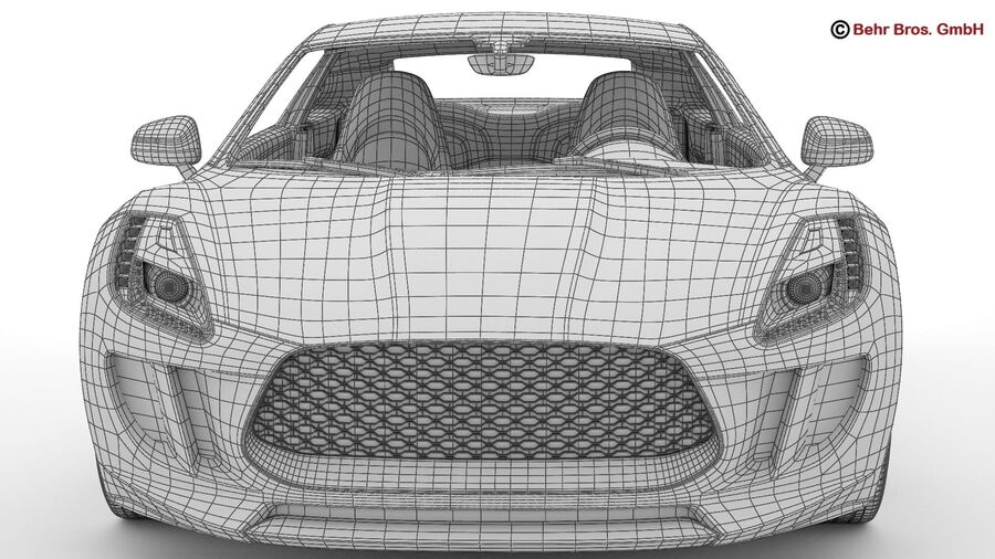 Generic Sports Car royalty-free 3d model - Preview no. 27