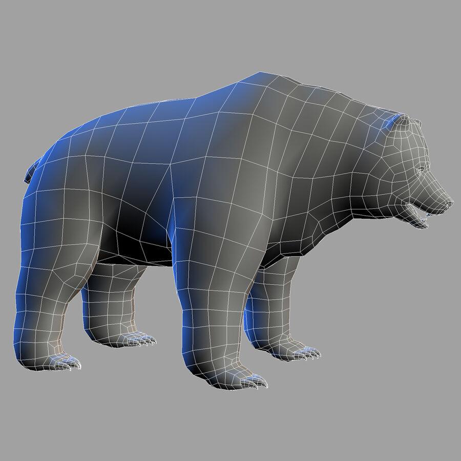 Niedźwiedź grizzly royalty-free 3d model - Preview no. 8