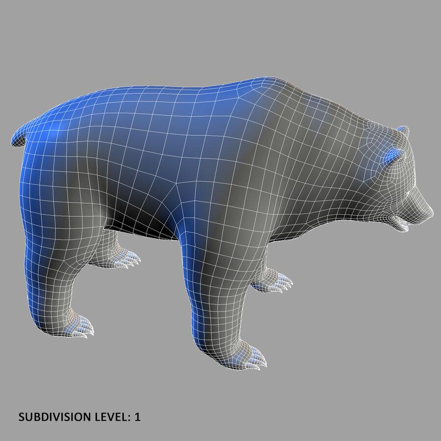 Niedźwiedź grizzly royalty-free 3d model - Preview no. 10