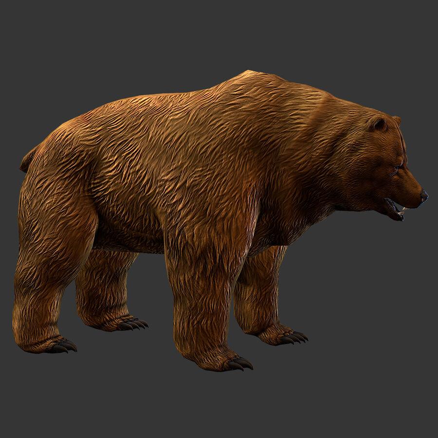 Niedźwiedź grizzly royalty-free 3d model - Preview no. 3