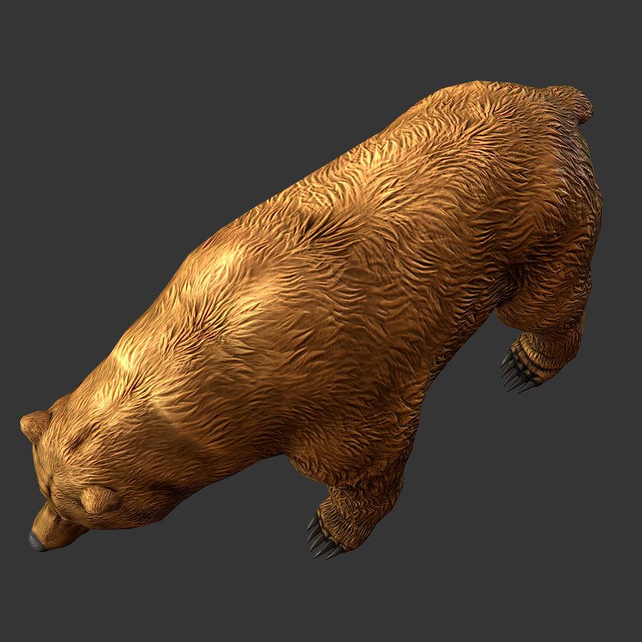 Niedźwiedź grizzly royalty-free 3d model - Preview no. 6