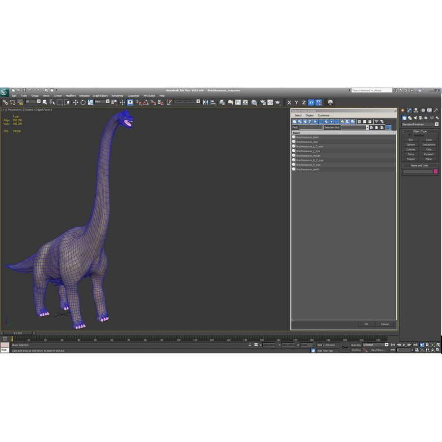 Brachiosaurus royalty-free 3d model - Preview no. 37