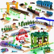 儿童火车套装玩具合集3 3d model