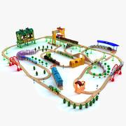 儿童火车玩具套装 3d model