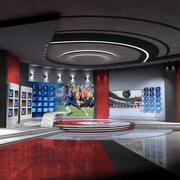 VR студия спорта 2 3d model