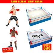 Pack de jeu de boxe 3d model
