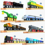 儿童火车玩具收藏3 3d model