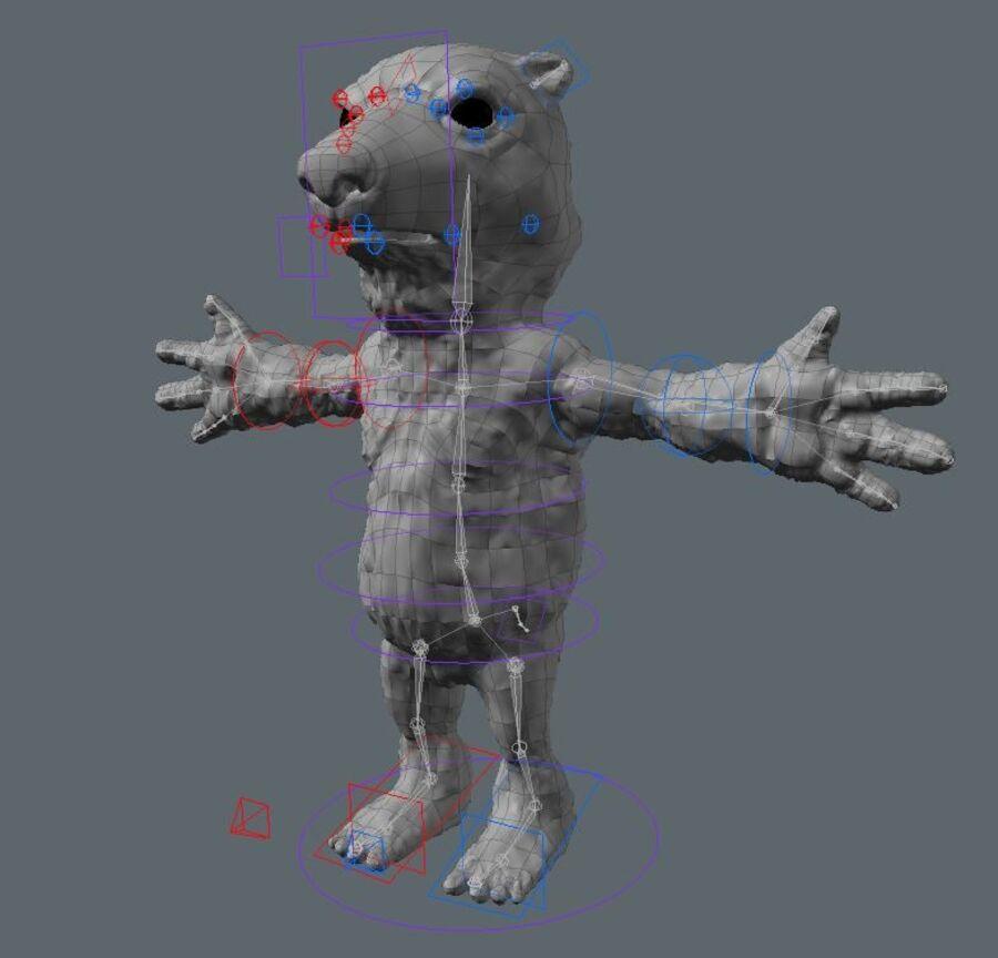 Kreskówka niedźwiedź polarny royalty-free 3d model - Preview no. 4