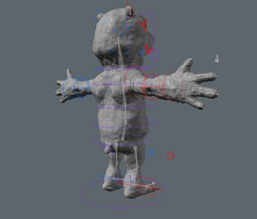 Kreskówka niedźwiedź polarny royalty-free 3d model - Preview no. 5