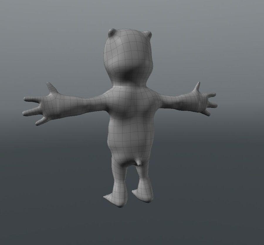 Kreskówka niedźwiedź polarny royalty-free 3d model - Preview no. 8