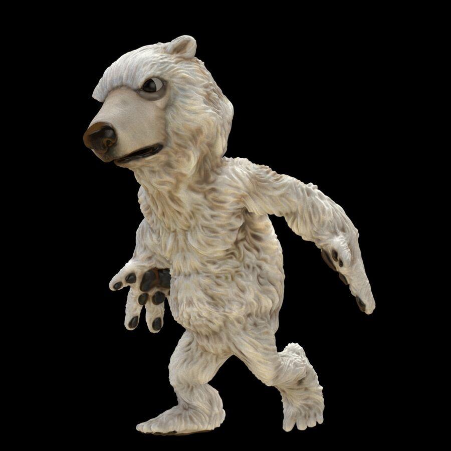 Kreskówka niedźwiedź polarny royalty-free 3d model - Preview no. 2