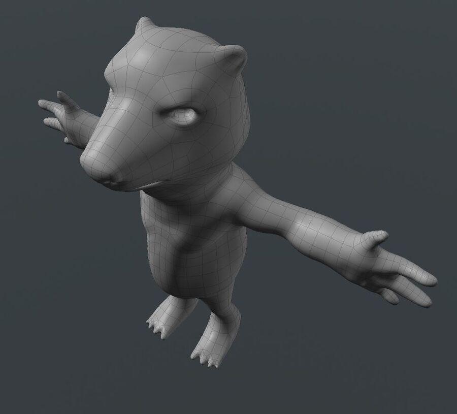 Kreskówka niedźwiedź polarny royalty-free 3d model - Preview no. 9