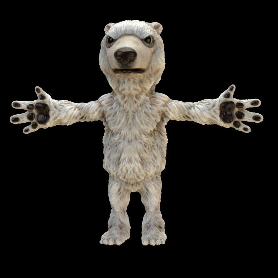 Kreskówka niedźwiedź polarny royalty-free 3d model - Preview no. 3