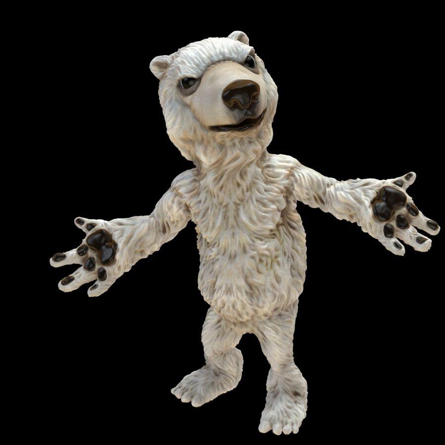 Kreskówka niedźwiedź polarny royalty-free 3d model - Preview no. 1