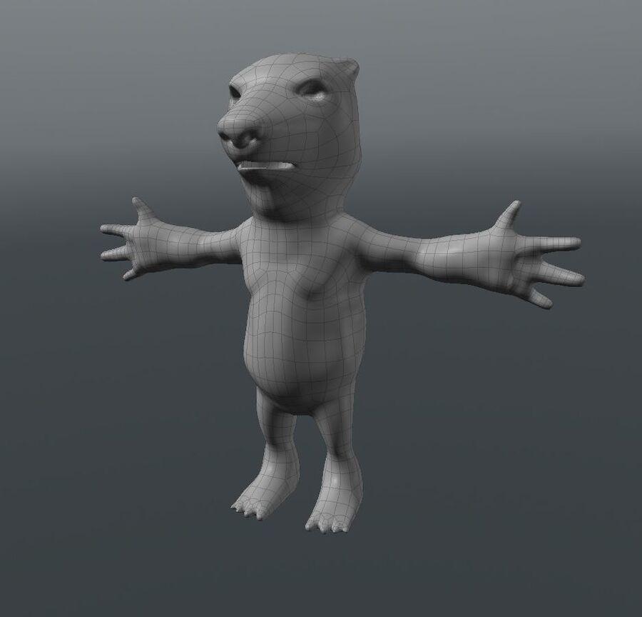Kreskówka niedźwiedź polarny royalty-free 3d model - Preview no. 7