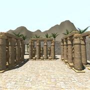 Temple égyptien 3d model