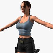 Raider féminin 3d model