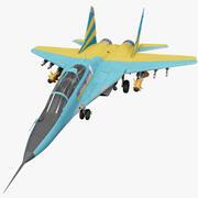 Avion de chasse russe MiG-29 2 3d model