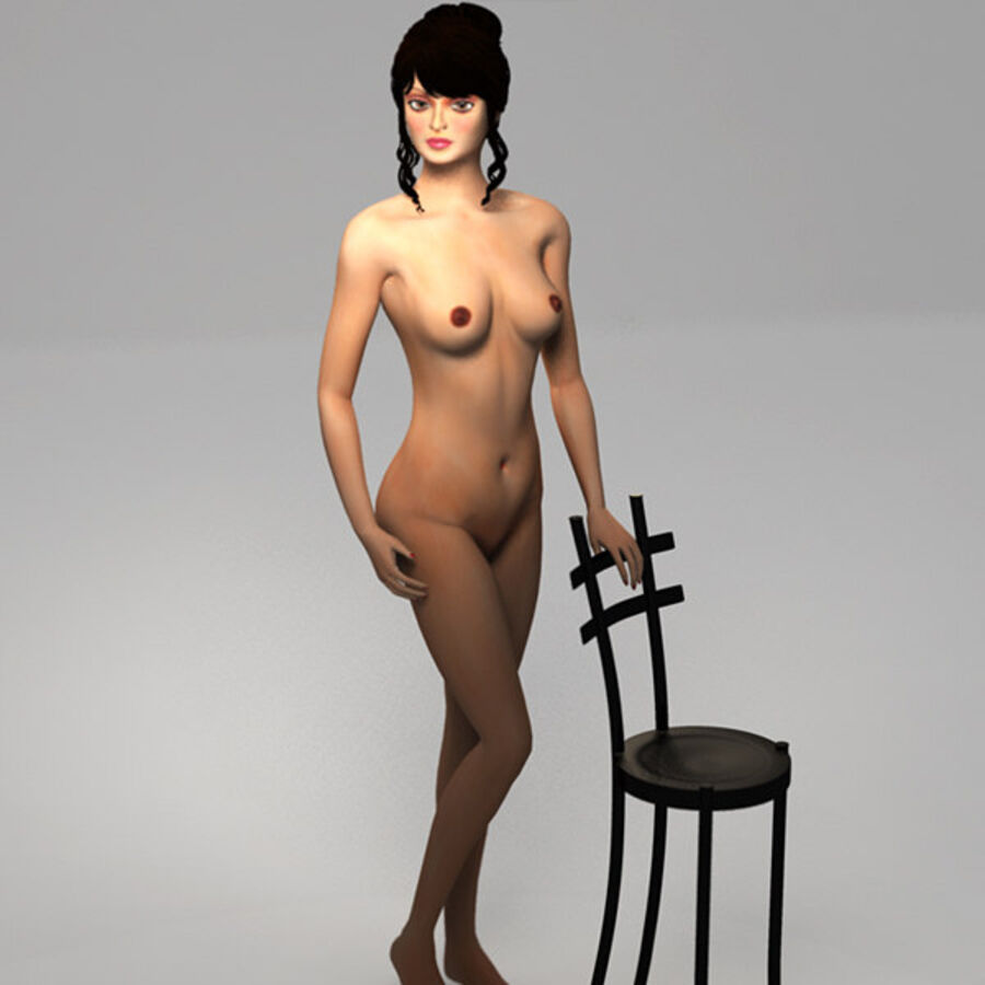 Aish Rigged royalty-free 3d model - Preview no. 13