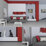 moderne ruimte 3d model