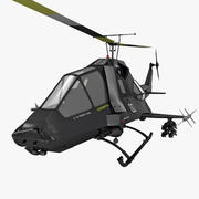 US Stealth Helicopter Rigged 3d model