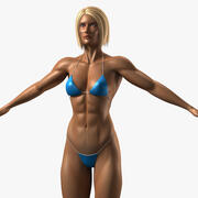 Bodybuilder femminile 3d model