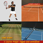 Tennis Game Pack 3d model