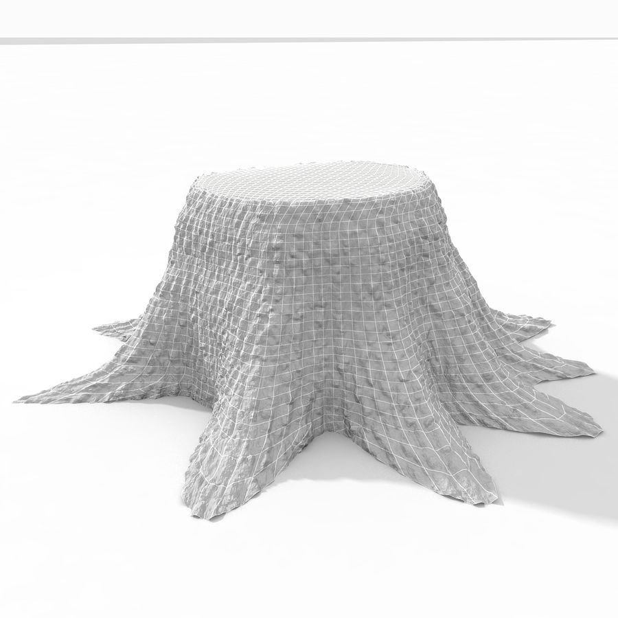 Tree Stump royalty-free 3d model - Preview no. 7