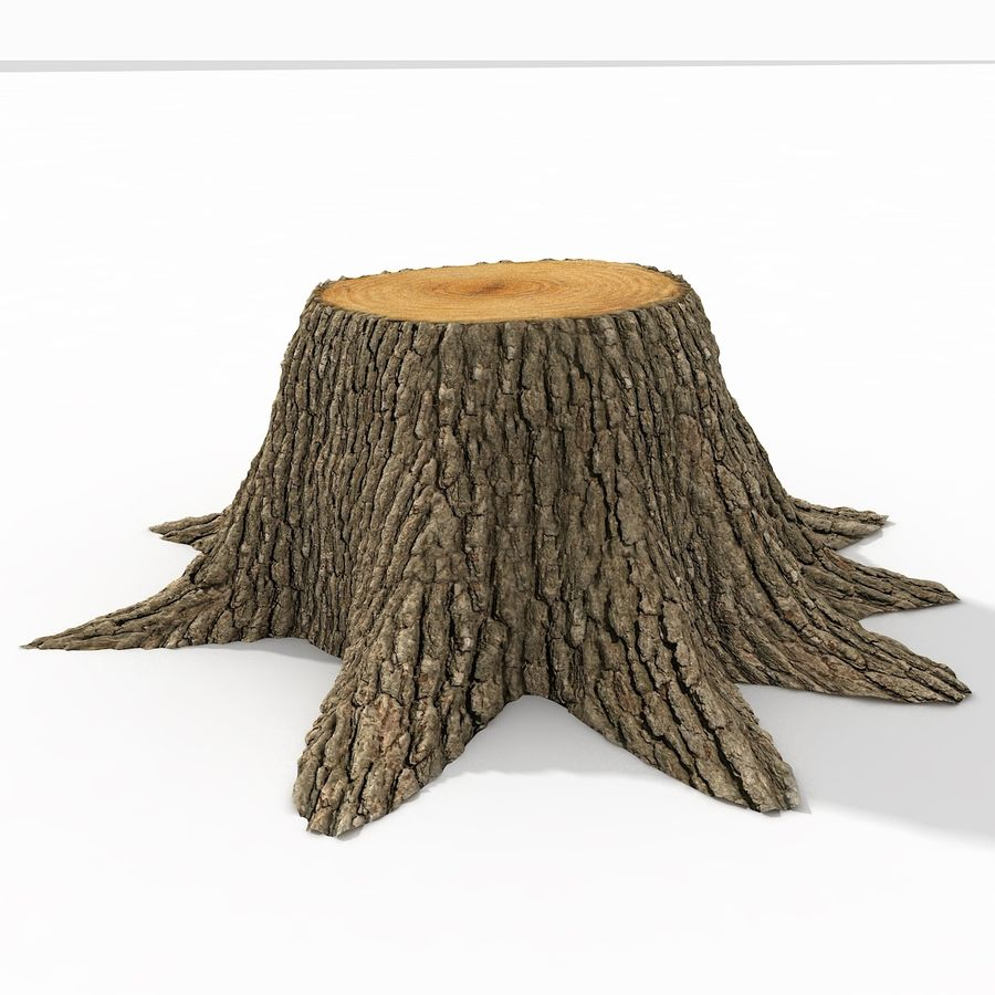 Tree Stump royalty-free 3d model - Preview no. 5