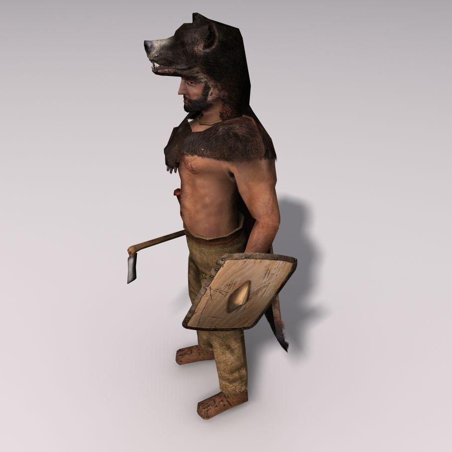 Düşük Poli Bear savaşçısı royalty-free 3d model - Preview no. 4