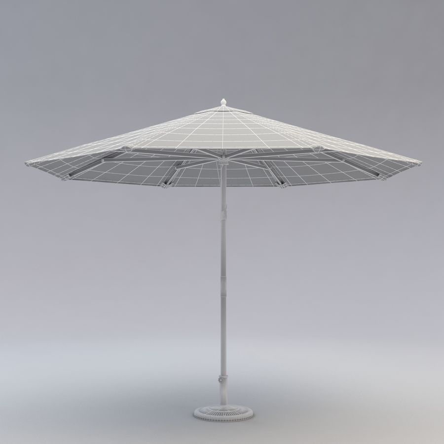 Free standing Outdoor Umbrella royalty-free 3d model - Preview no. 7