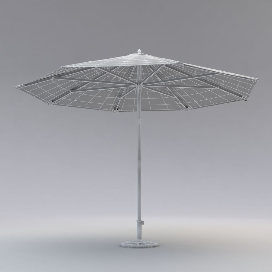 Free standing Outdoor Umbrella royalty-free 3d model - Preview no. 6