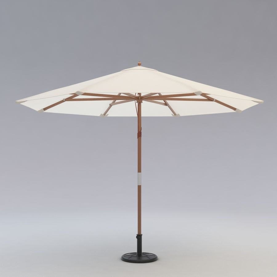 Free standing Outdoor Umbrella royalty-free 3d model - Preview no. 3