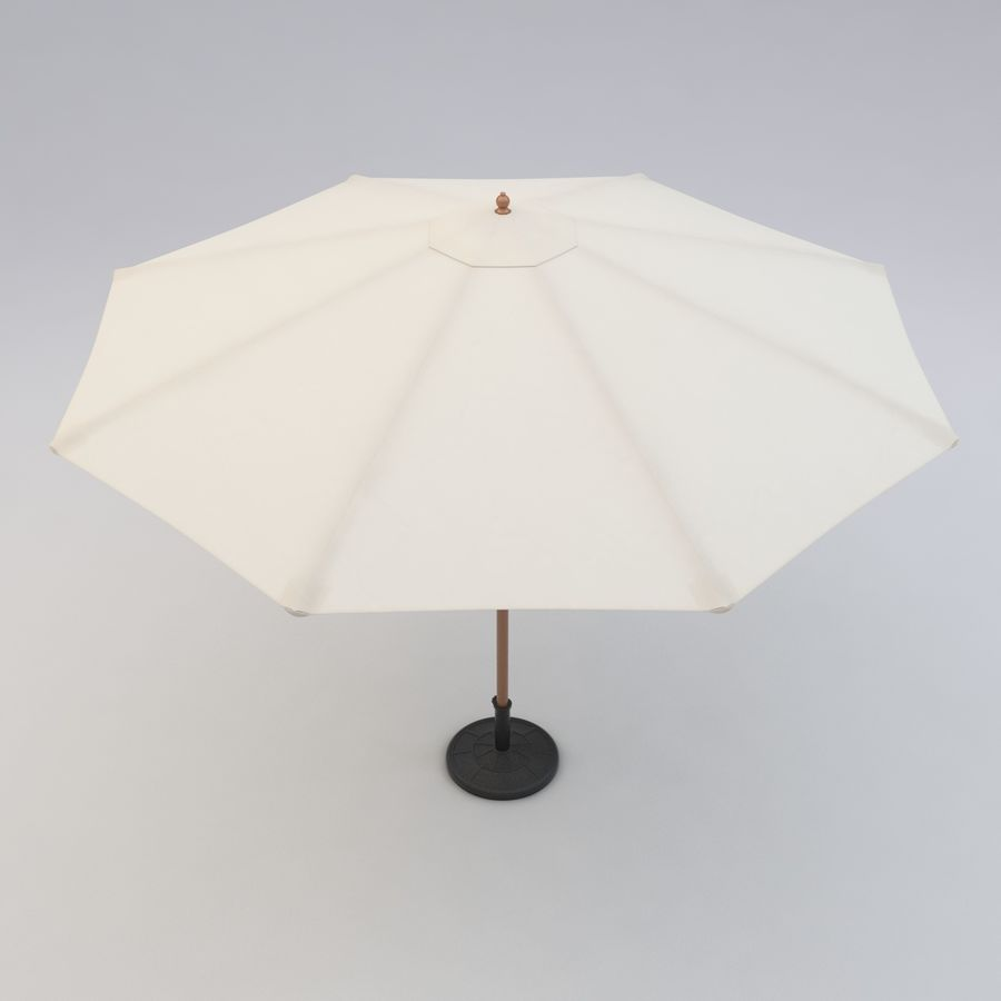 Free standing Outdoor Umbrella royalty-free 3d model - Preview no. 5