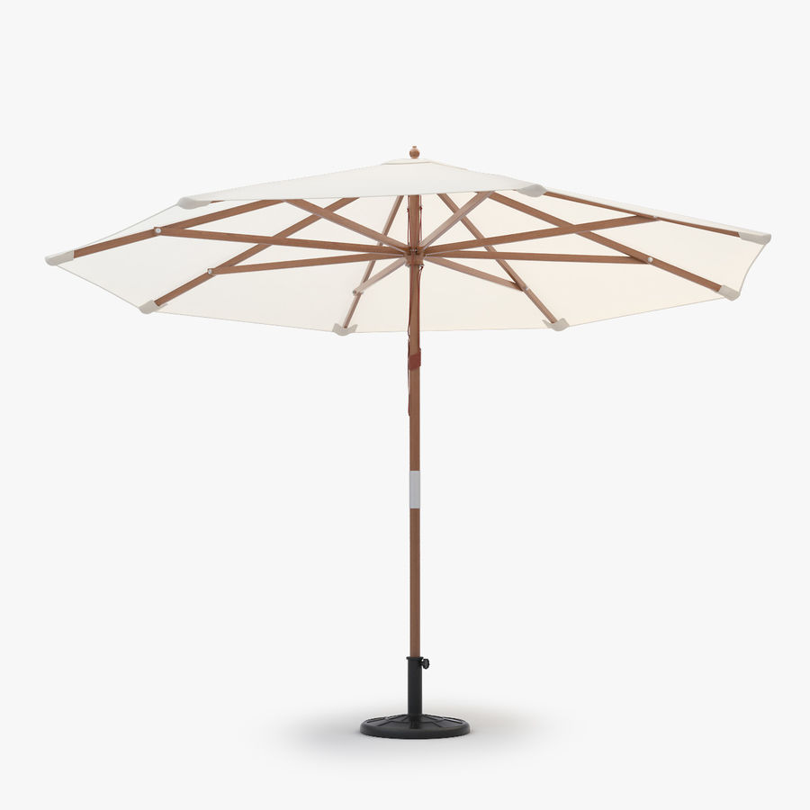 Free standing Outdoor Umbrella royalty-free 3d model - Preview no. 1