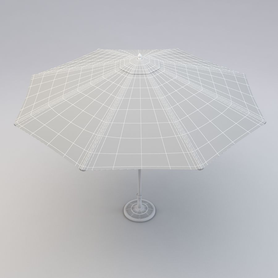 Free standing Outdoor Umbrella royalty-free 3d model - Preview no. 9